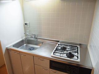 ウエストビレッジ301号室キッチン.JPG